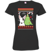 Bull Terrier Christmas T-shirts 3516 LAT Ladies' Fine Jersey