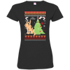 Greate Dane Christmas T-shirts 3516 LAT Ladies' Fine Jersey