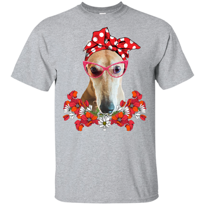 Greyhound Mom Flower TT T-Shirt 8 colors
