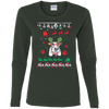 Basset Hound Christmas T-shirts G540L Gildan Ladies' Cotton LS T-Shirt