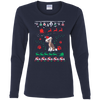 Chinese Crested Christmas T-shirts G540L Gildan Ladies' Cotton LS T-Shirt