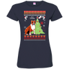 Staffordshire Christmas T-shirts 3516 LAT Ladies' Fine Jersey