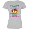 German Shepherd Snack Tshirt 3516 LAT Ladies' Fine Jersey T-Shirt