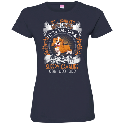 Happy Cavalier Tshirt 3516 LAT Ladies' Fine Jersey T-Shirt