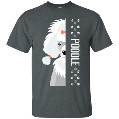 Poodle Half-Face Tshirt G200 Gildan Ultra Cotton T-Shirt