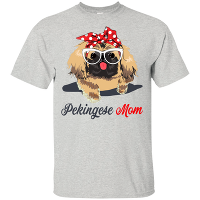 Pekingese Mom No DL T-Shirt 8 colors