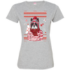 Christmas boston terrier Tshirt 3516 LAT Ladies' Fine Jersey T-Shirt
