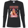 Christmas cocker spaniel G540L Gildan Ladies' Cotton LS T-Shirt