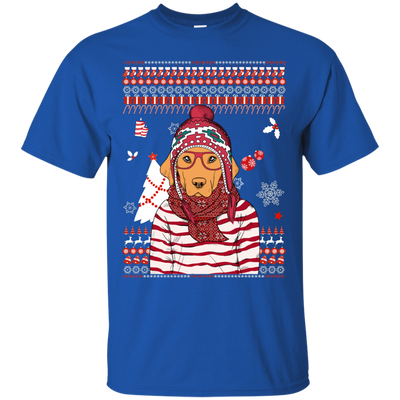 Christmas golden retriever G200 Gildan Ultra Cotton T-Shirt