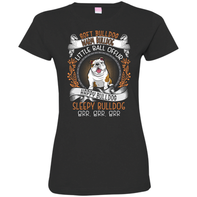 Happy Bulldog Tshirt 3516 LAT Ladies' Fine Jersey T-Shirt