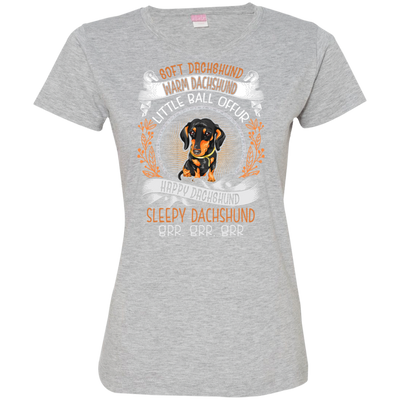 Happy dachshund Tshirt 3516 LAT Ladies' Fine Jersey T-Shirt