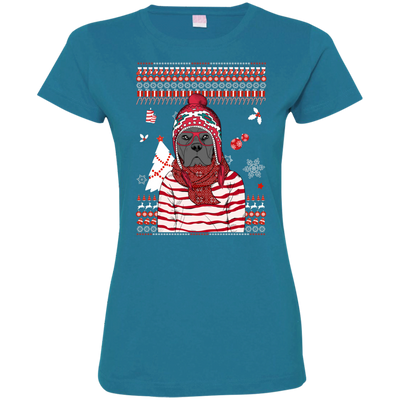Christmas cane corso 3516 LAT Ladies' Fine Jersey T-Shirt