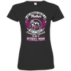 Pitbull  Mom Tshirt 3516 LAT Ladies' Fine Jersey T-Shirt