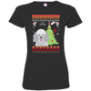 Poodle Christmas T-shirts 3516 LAT Ladies' Fine Jersey