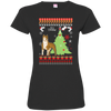 Pitbull Christmas T-shirts 3516 LAT Ladies' Fine Jersey