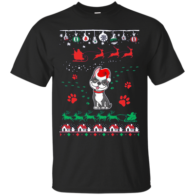 Boston Terrier  Christmas T-shirts G200 Gildan Ultra Cotton T-Shirt