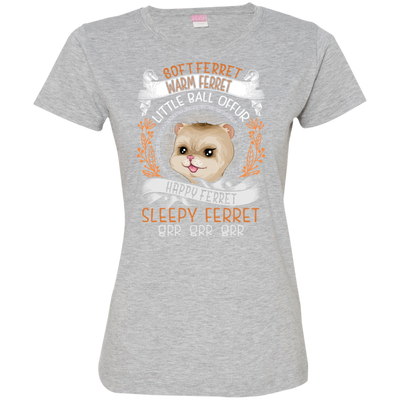 Happy Ferret Tshirt 3516 LAT Ladies' Fine Jersey T-Shirt