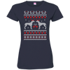 Greyhound Christmas T-shirts 02 3516 LAT Ladies' Fine Jersey T-Shirt