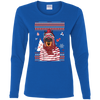 Christmas doberman G540L Gildan Ladies' Cotton LS T-Shirt