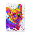 Frenchie Matte Canvas Print, Canvas Wall Art for Living Room, Bathroom Wall Decor, Water Color 30B