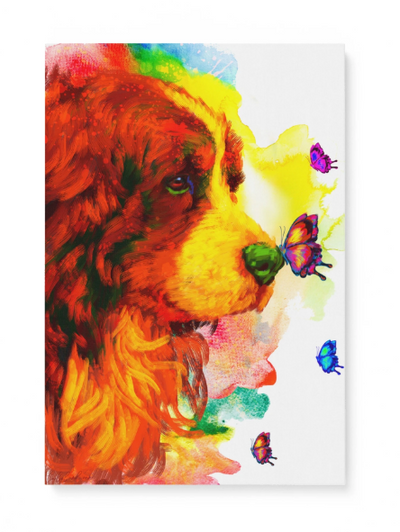 Bernese Moutain Matte Canvas Print, Canvas Wall Art for Living Room, Bathroom Wall Decor, Butterfly TT 5TA