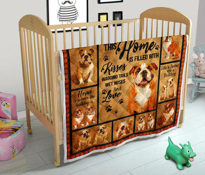 Bulldog Home Quilt