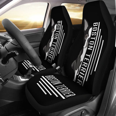 Boston Terrier Car Seat Covers Ja25PM