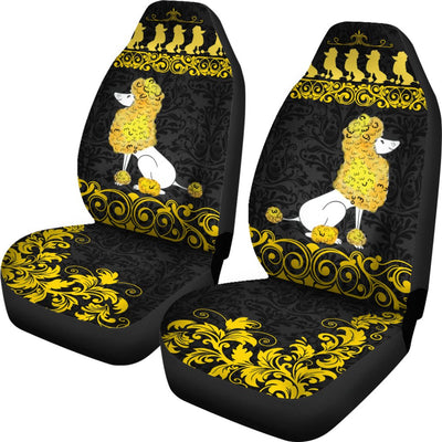 Poodle Car Seat Covers Ja31PH