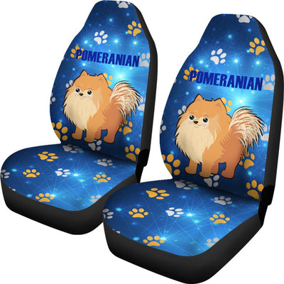 Pomeranian Car Seat Covers Ja17VA