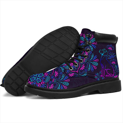 Vizsla Flowers Season Boots