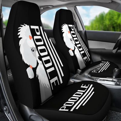 Poodle Car Seat Covers Ja23DL