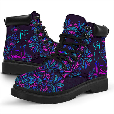 Great Dane Purple Mandala Season Boots