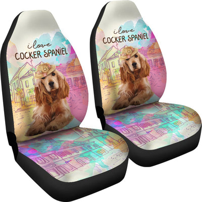 Cocker Spaniel Car Seat Covers Ja16VA