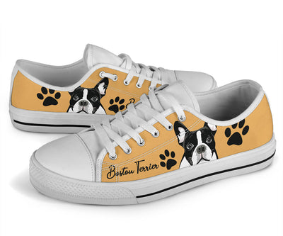 Boston Terrier  Paws Low Top
