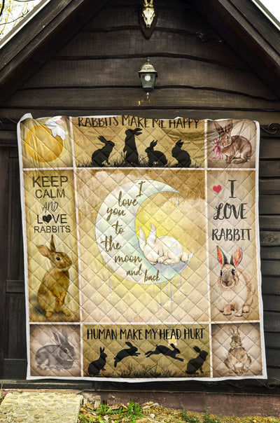 Rabbit Make Me Happy Quilt