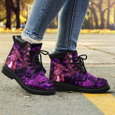 pitbull galaxy skull season Boots