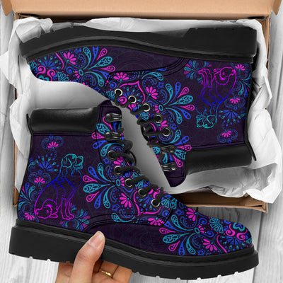 Bernese Mountain Flowers Season Boots