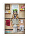 German Shepherd Matte Canvas Print, Canvas Wall Art for Living Room, Bathroom Wall Decor, Toilet TR