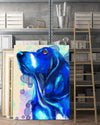 Basset Hound Matte Canvas Print, Canvas Wall Art for Living Room, Bathroom Wall Decor, Water Blue TH