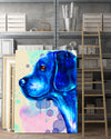 Beagle Matte Canvas Print, Canvas Wall Art for Living Room, Bathroom Wall Decor, Water Blue TH
