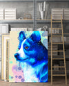 Corgi Matte Canvas Print, Canvas Wall Art for Living Room, Bathroom Wall Decor, Water Blue TH