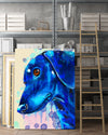Dachshund Matte Canvas Print, Canvas Wall Art for Living Room, Bathroom Wall Decor, Water Blue TH