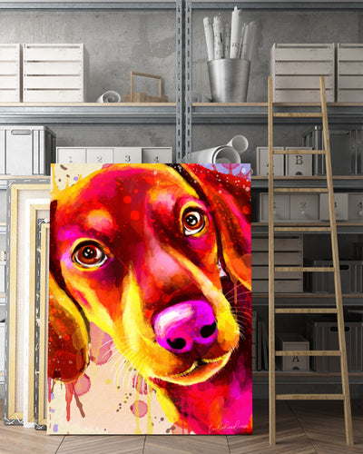 Dachshund Matte Canvas Print, Canvas Wall Art for Living Room, Bathroom Wall Decor, Water Color TH