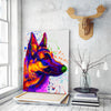 German Shepherd 2 Matte Canvas Print, Canvas Wall Art for Living Room, Bathroom Wall Decor, Water Color TT 31B