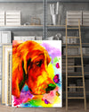 Basset Matte Canvas Print, Canvas Wall Art for Living Room, Bathroom Wall Decor, Butterfly TT 5TA