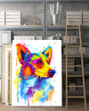 Corgi 1 Matte Canvas Print, Canvas Wall Art for Living Room, Bathroom Wall Decor, Color TT 14TA