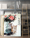 Corgi 3 Matte Canvas Print, Canvas Wall Art for Living Room, Bathroom Wall Decor, Color TT 14TA