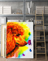 Poodle Matte Canvas Print, Canvas Wall Art for Living Room, Bathroom Wall Decor, Butterfly TT 6TA