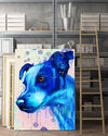 Jack russell Matte Canvas Print, Canvas Wall Art for Living Room, Bathroom Wall Decor, Water Blue TH