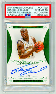 SHAQUILLE O'NEAL 2014 Panini Flawless EMERALD /5 Signatures AUTO SIGNED PSA 10 GEM MINT